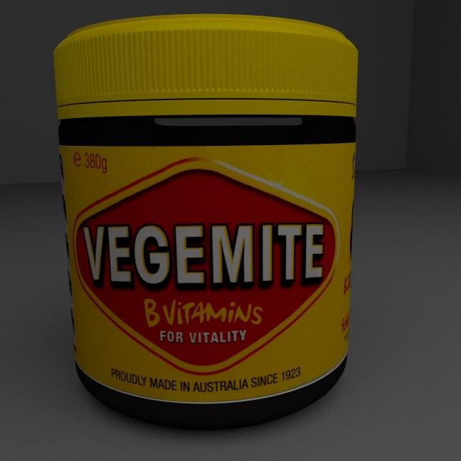 3d model vegemite jar
