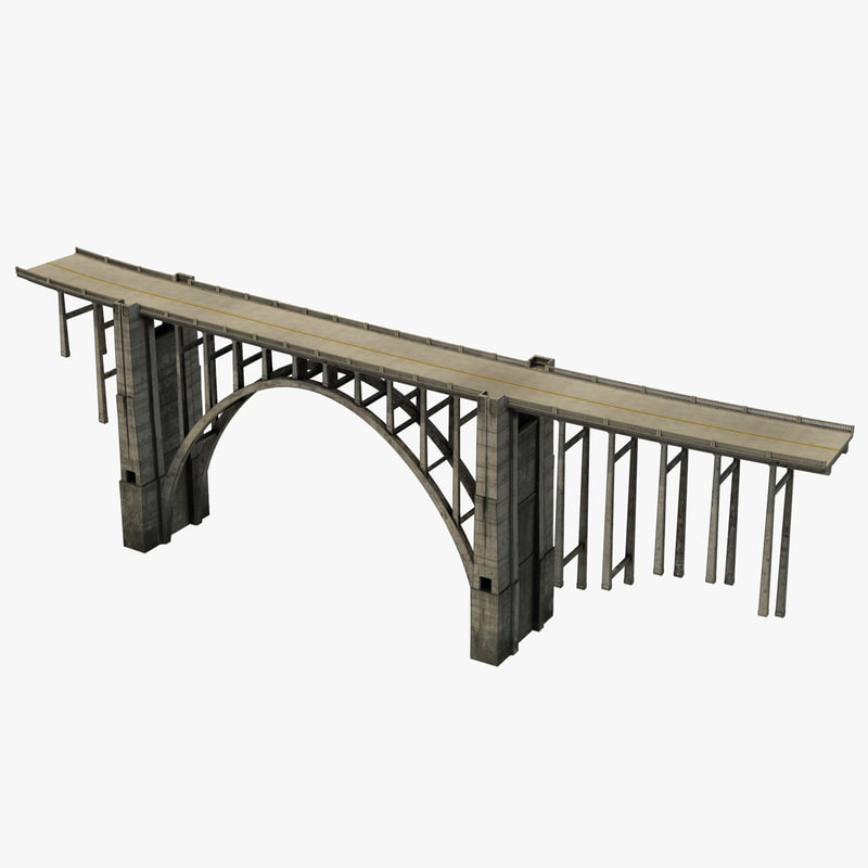 bixby creek bridge big 3d model