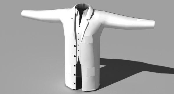 white coat lab open 3d 3ds