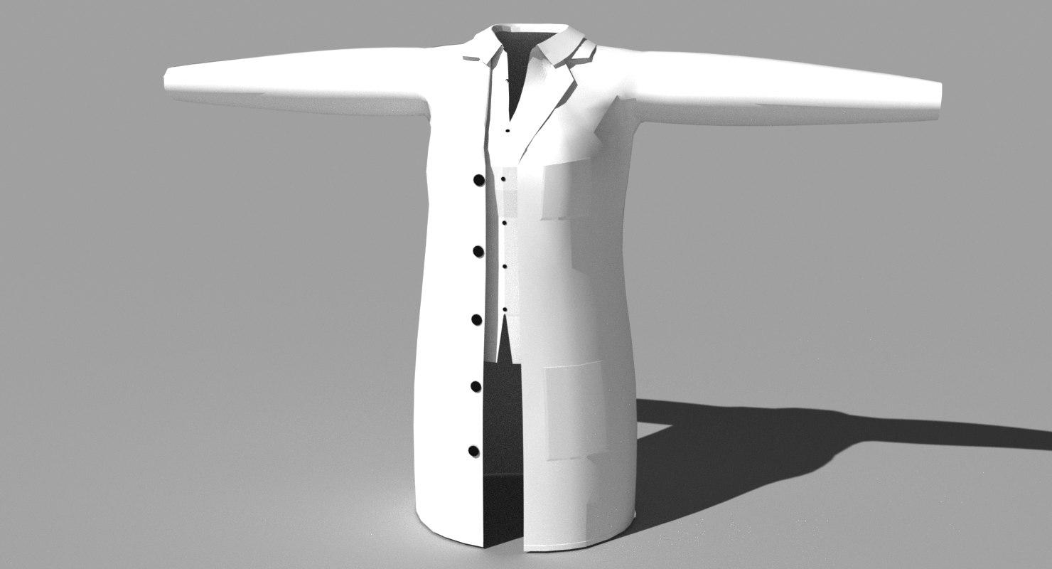 female lab coat open max