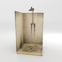 3d model old dirty shower