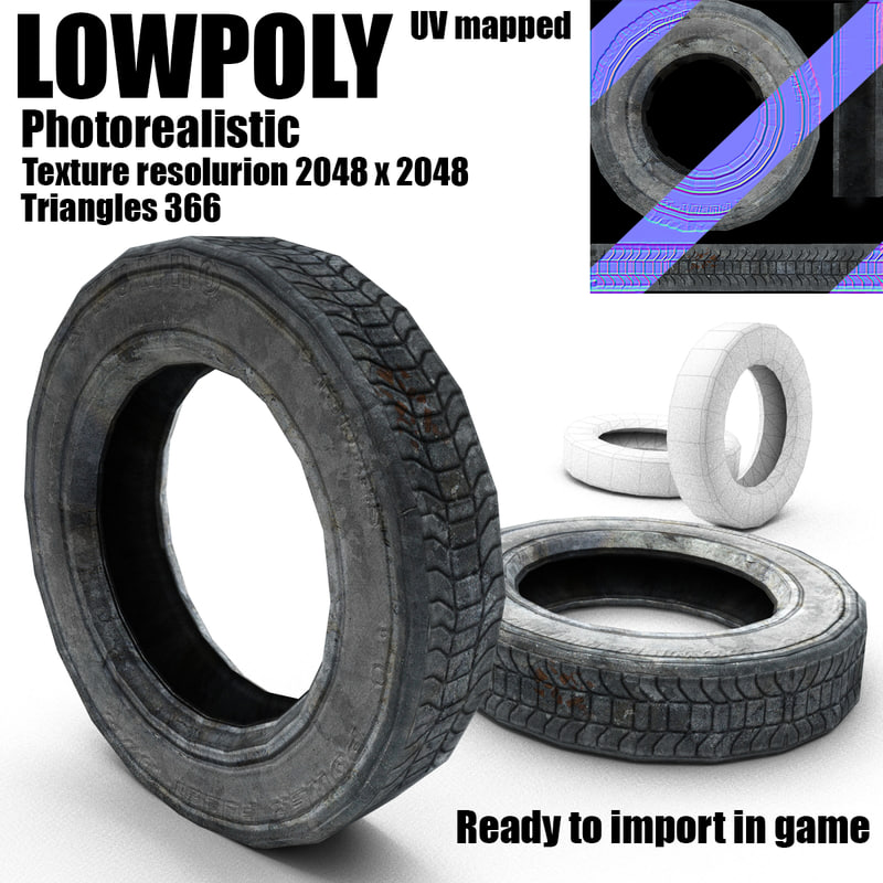 old tire 3d ma