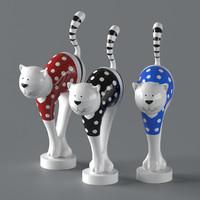 Statuette ceramic cat