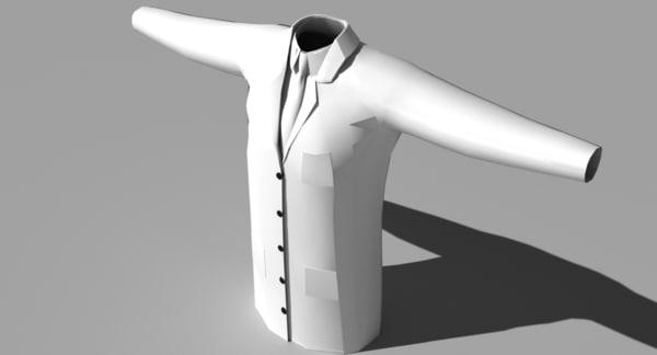 lab coat shirt tie 3d 3ds