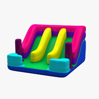inflatable slide 3d obj