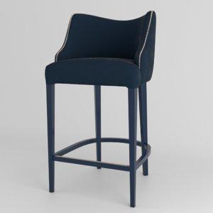 3d contemporary bar stool