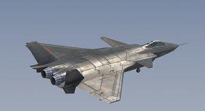 3D chengdu j-20 stealth fighter model