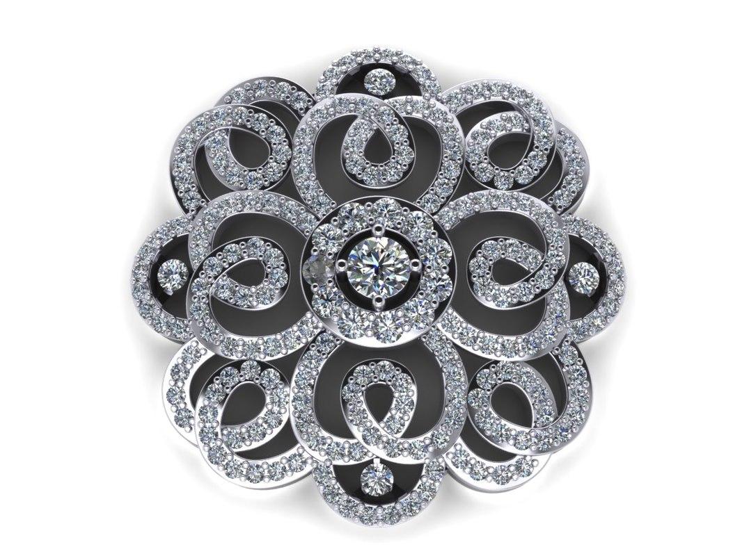 3dm diamond pendant