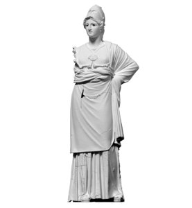 free scan statue athena minerva 3d model