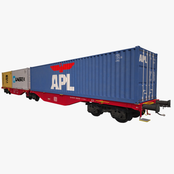 container railcar sggrss 3d ma