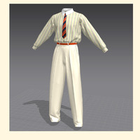 shirt classical clothes 3d model