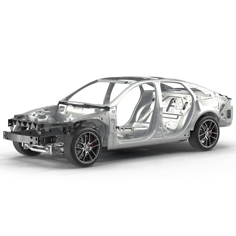car frame chassis 3d model