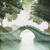 Stone Bridge Scene