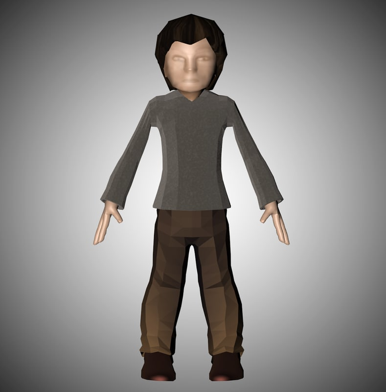 3d model standing man
