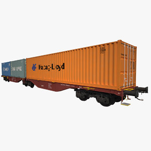 container railcar sggrss 3d max