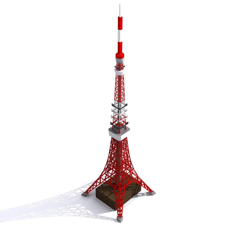 3d model tokyo tower