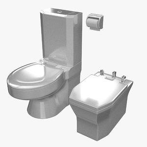 3d model toilet bidet