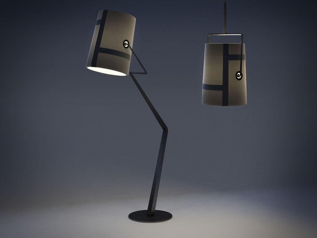 foscarini fork grande lamp 3d max