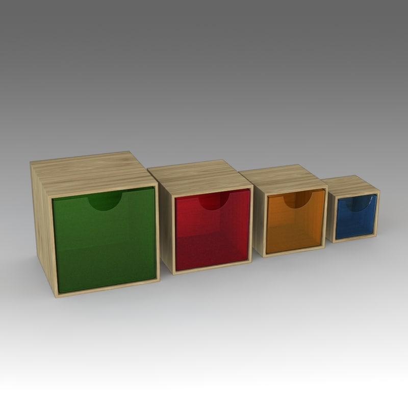 3d boxes ikea