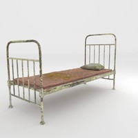 3ds max old bed