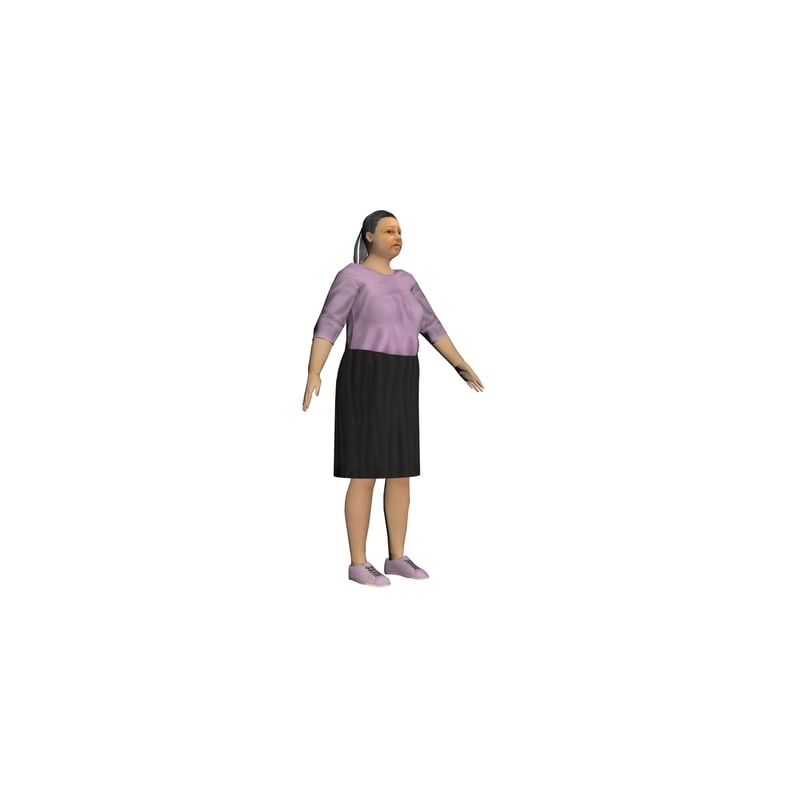 3d model of mexican woman