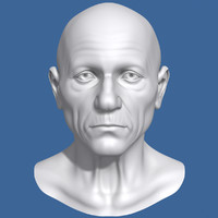 3ds max polygonal old man head