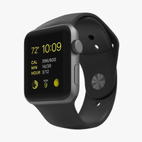 apple watch sport space 3d model