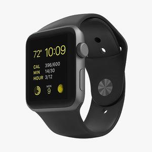 apple watch sport space 3d model
