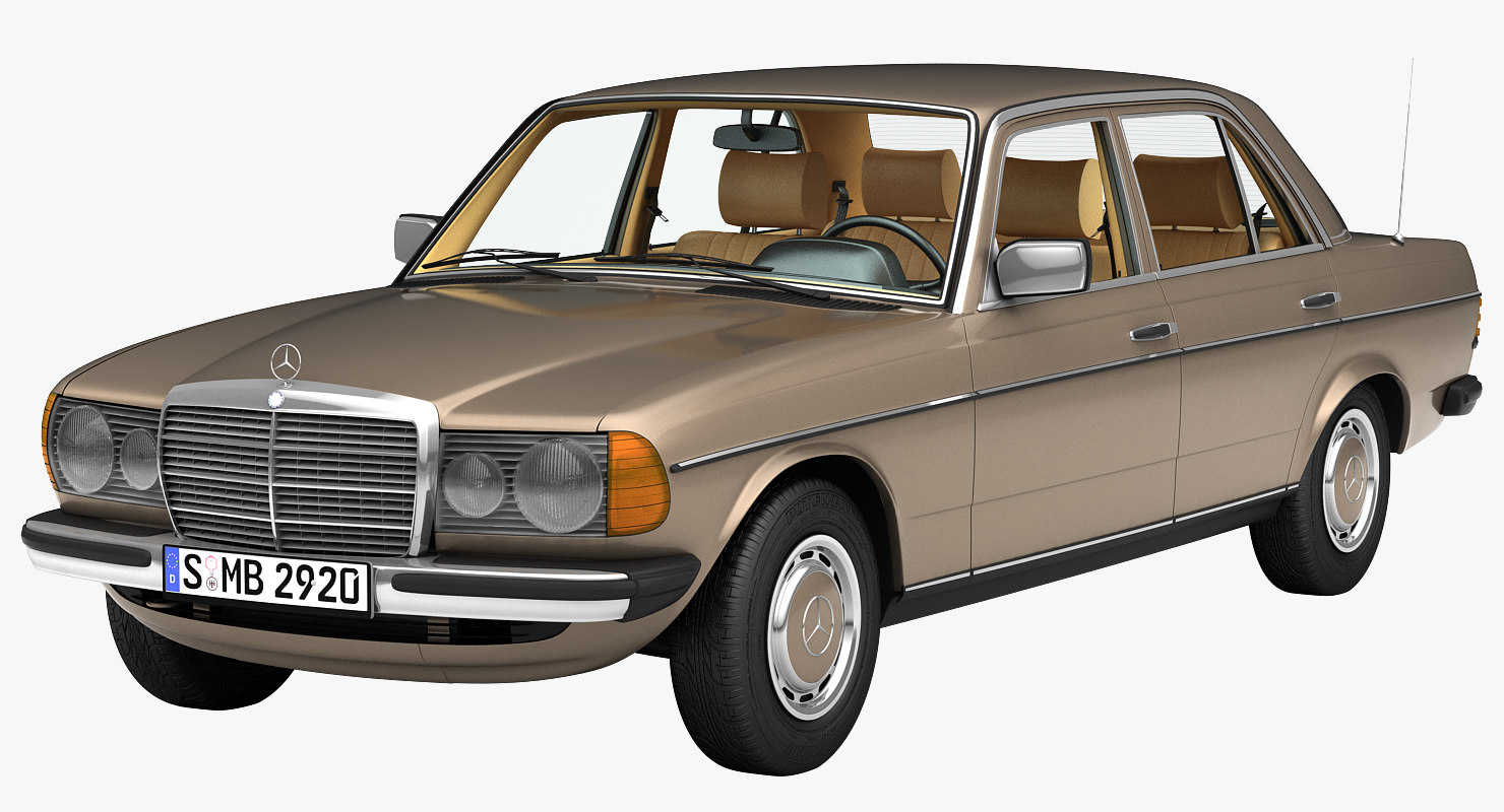 230e w123 mercedes 3d max for Mercedes benz 230e
