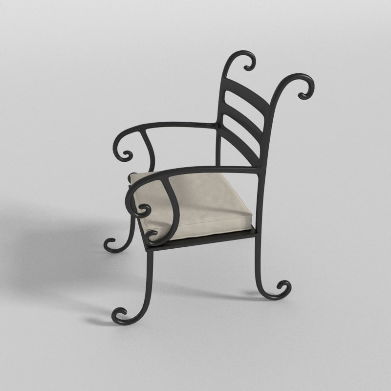 lawn chair 3d obj