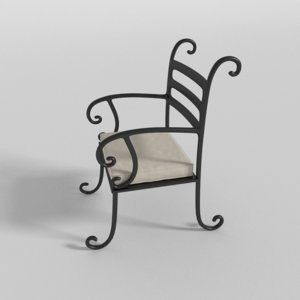 lawn chair 3d obj