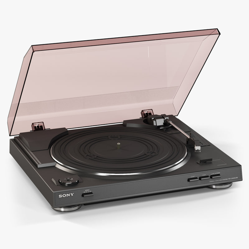 3d model sony ps-lx300usb stereo turntable