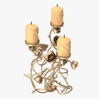 3d lighting candlestick candle