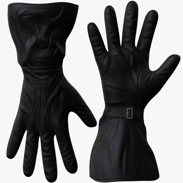 men gloves 3d model