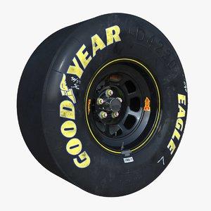 3d model nascar wheel brake disc