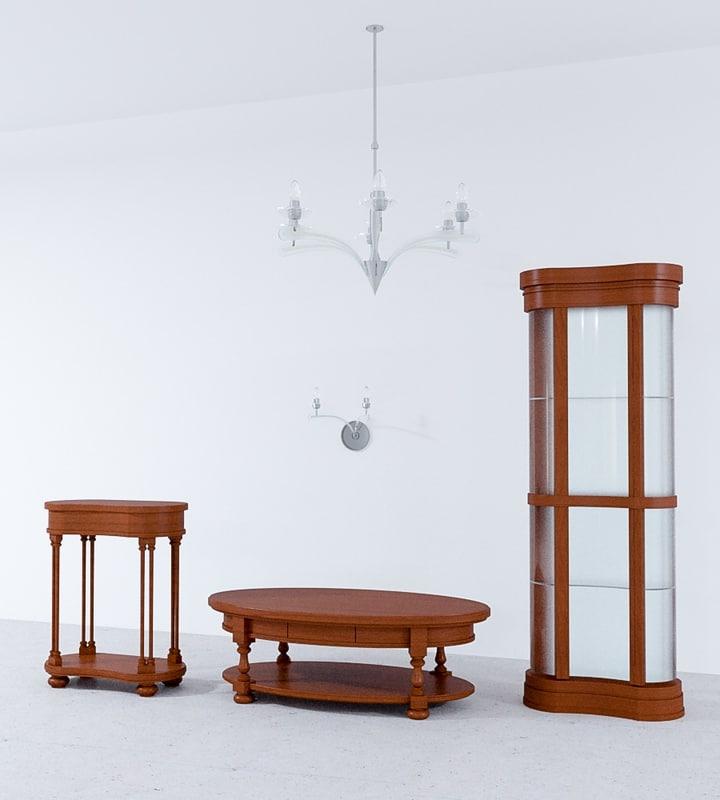 3d model rustik furniture