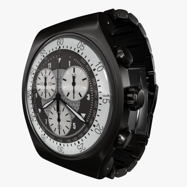 3d swatch irony black