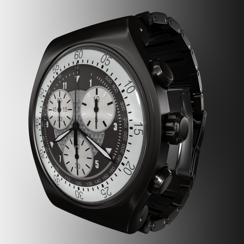 3d swatch irony black