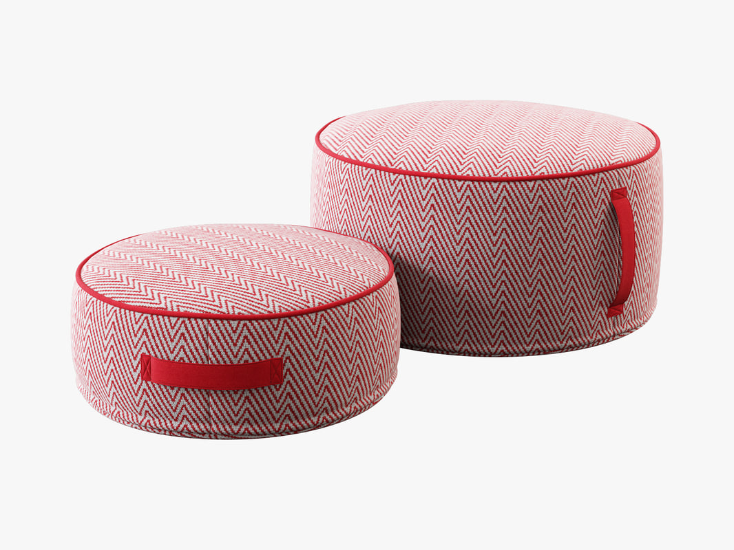 land nod herringbone pouf max