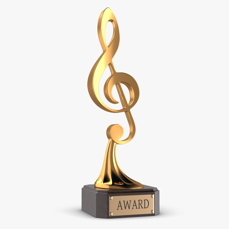 music award trophy 3d max