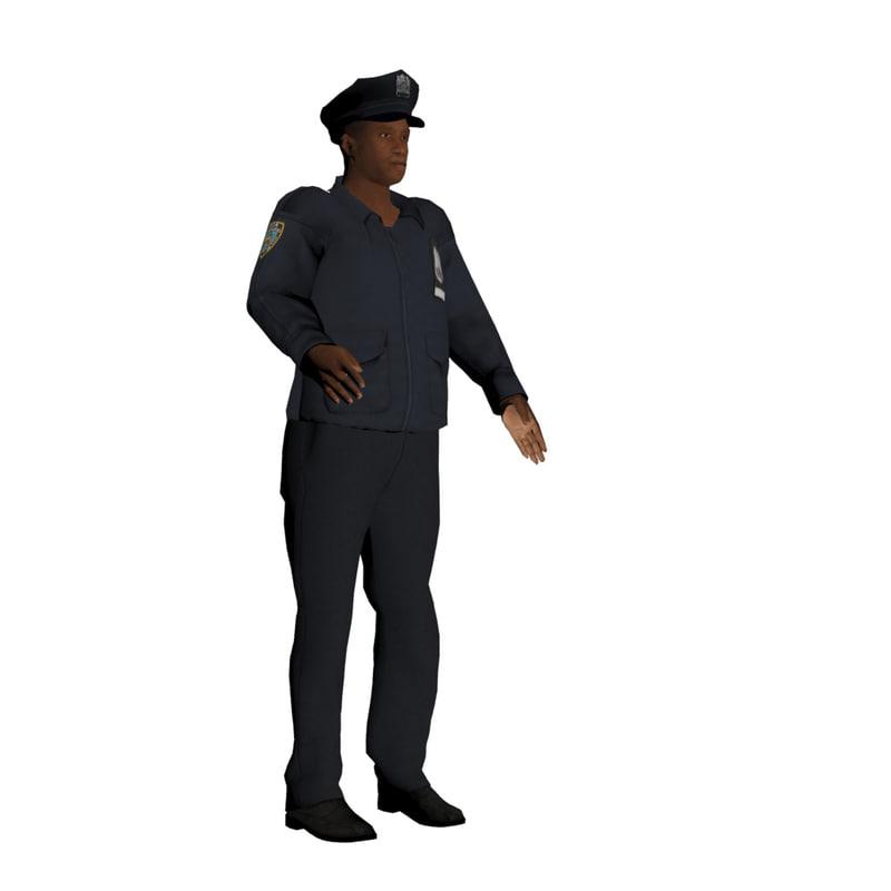 3d cop police model
