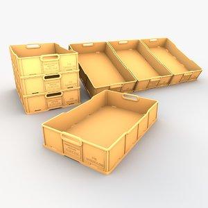 fish crate 3d model