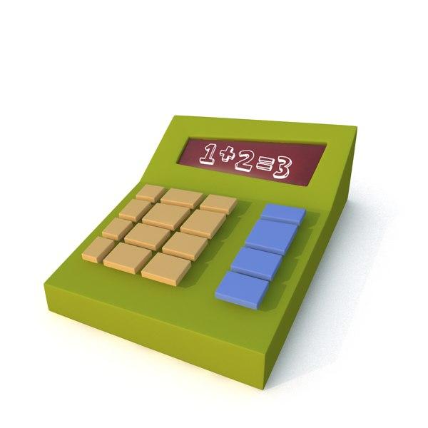 maya stylized cartoon calculator
