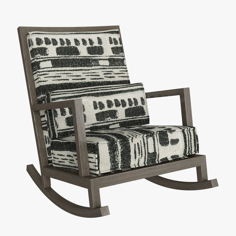 3d Model Crate Barrel Jeremiah Fabric