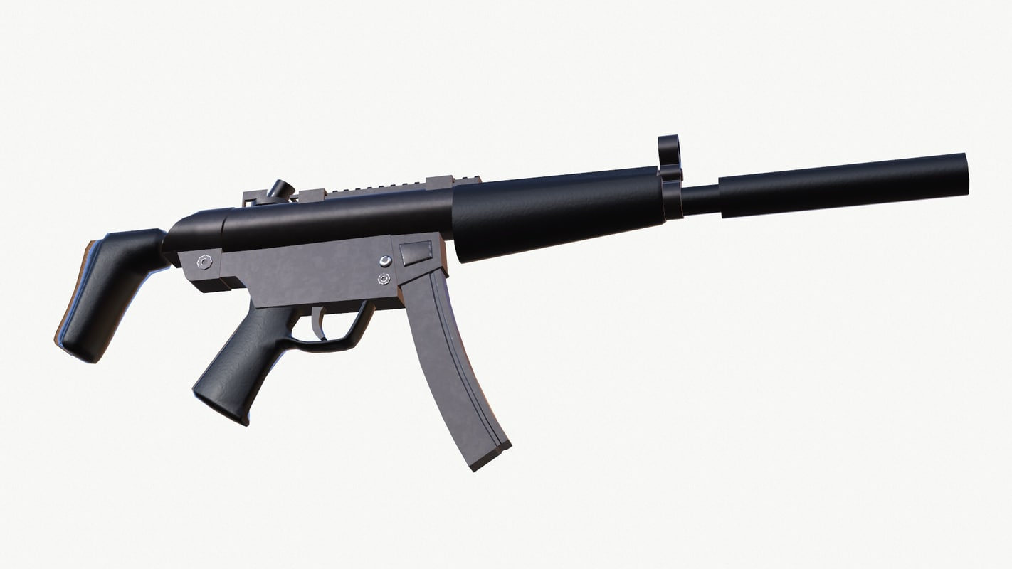 3d model mp5 submachine gun