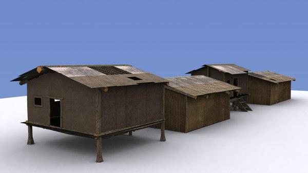 3d buildings slum housing model
