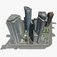 3ds max city block buildings