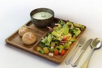 33 salad set 3d max