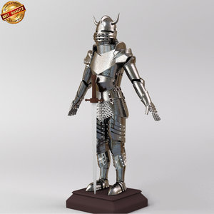 3d knights armour