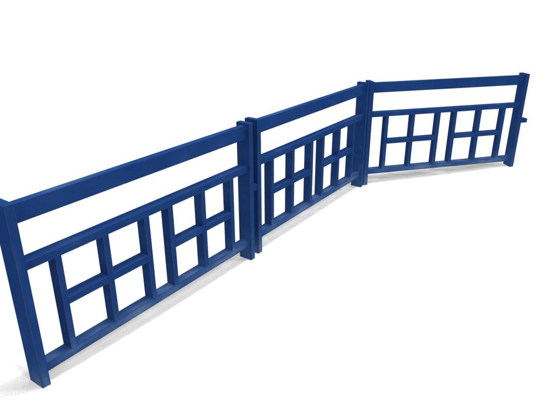 3d fencing model